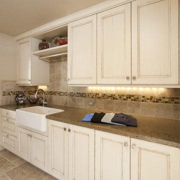 Laundry Room w/ Custom Counters and Tile Backsplash - Saratoga, CA