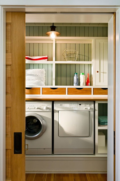 Beach Style Laundry Room by Whitten Architects