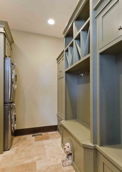 Transitional Laundry Room by Stonebreaker Builders & Remodelers