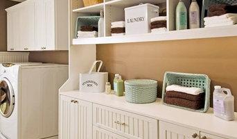 Laundry Room with beadboard doors