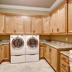 contemporary laundry room by Kirkland Custom Cabinets Inc