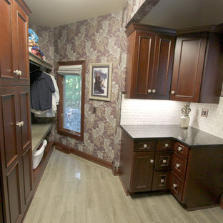 Laundry Room with Cherry Cabinets and Granite Countertops ~ Medina OH