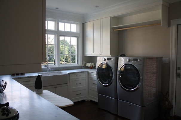 Eclectic Laundry Room by Hardwood Creations