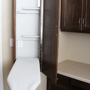Laundry Room with Ironing Board Cabinet