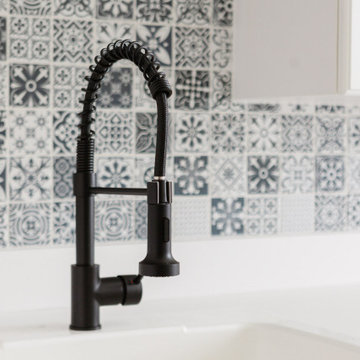 Laundry Room with Mosaic Tile