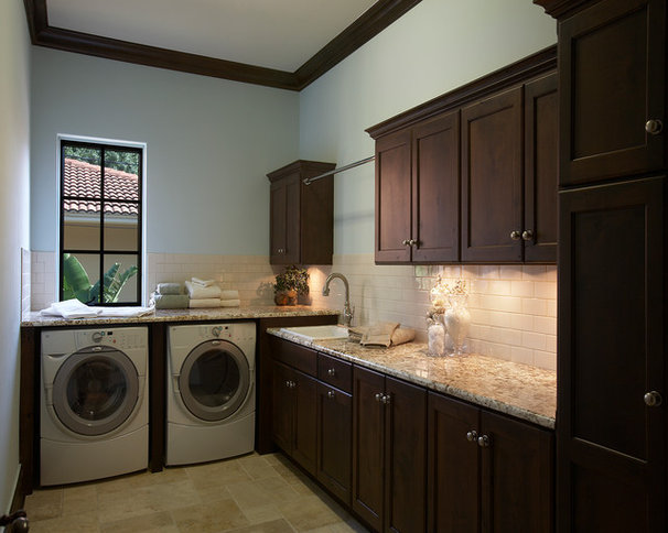 Traditional Laundry Room by Olde World Cabinetry