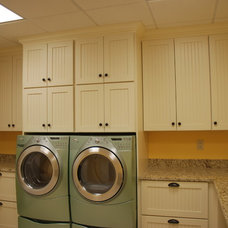 Traditional Laundry Room by Priebe's Creative Woodworking