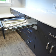 Transitional Laundry Room by Marr-Tech Kitchens Ltd.