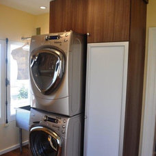 Contemporary Laundry Room Laundry space in single family home in San Francisco