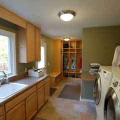laundry room by Hurst Design Build Remodeling