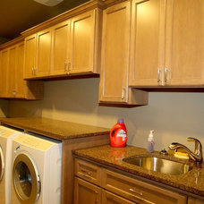 Traditional Laundry Room by WESTERN CABINETS