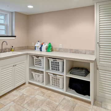Laundry with Louvered Doors