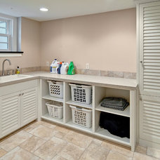 Traditional Laundry Room by Steven Cabinets