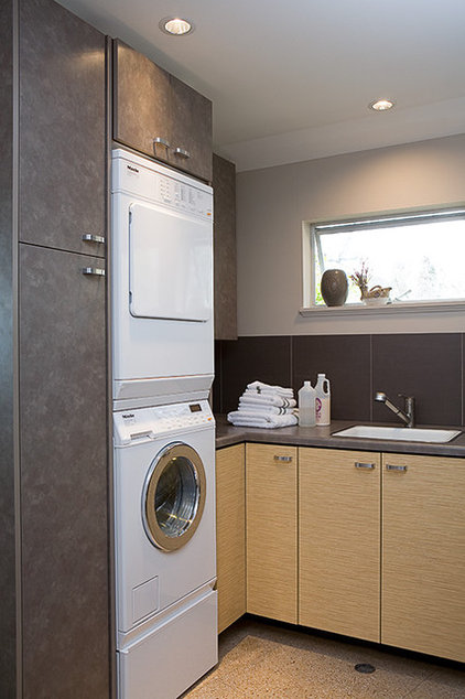 Contemporary Laundry Room by Gaspar's Construction