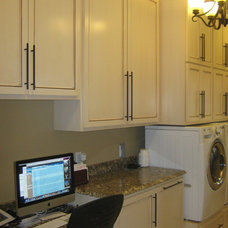 Traditional Laundry Room by Lustig Custom Cabinets