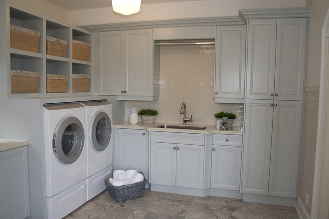 Traditional Laundry Room by Leanne Mosquite Interior Design