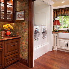 Traditional Laundry Room by Catherine Monaghan