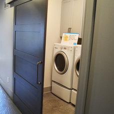 Beach Style Laundry Room by Liberty Door Series
