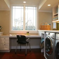 Traditional Laundry Room by Sarah Susanka, FAIA