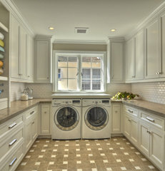 contemporary laundry room by Venetian Stone Gallery