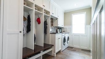 Linda's Mudroom + Laundry Room