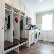 Craftsman Laundry Room by Labra Design Build