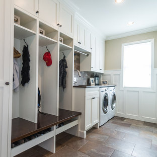 Inspiration for a mid-sized craftsman laundry room remodel in Detroit