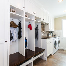 Traditional Laundry Room by Labra Design Build