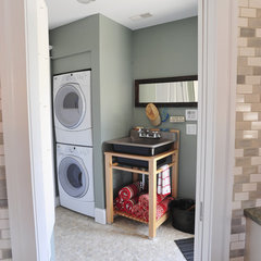 eclectic laundry room by Robert kiejdan