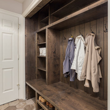 LO Transistional with hints of Industrial Kitchen, Mudroom and Stairway Remodel