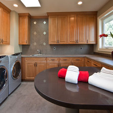 Traditional Laundry Room by Lochwood-Lozier Custom Homes