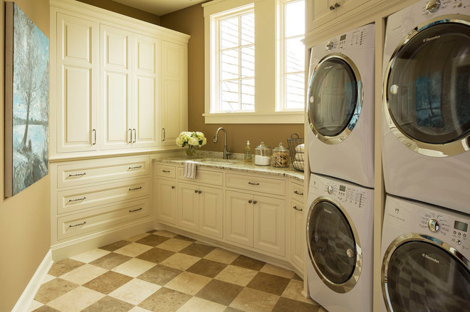 Traditional Laundry Room by Martha O'Hara Interiors