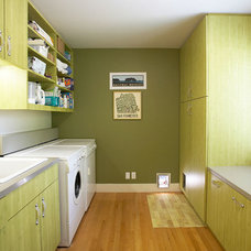 Contemporary Laundry Room by Pete Moffat Construction