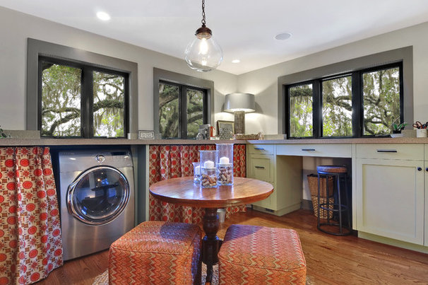 Transitional Laundry Room by William Quarles Photography