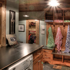 Traditional Laundry Room by Lands End Development - Designers & Builders