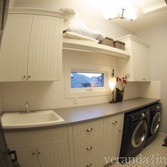 eclectic laundry room by Veranda Estate Homes & Interiors