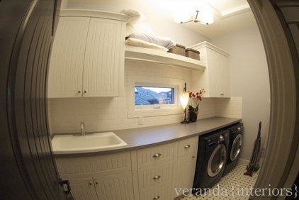 Eclectic Laundry Room by Veranda Estate Homes & Interiors