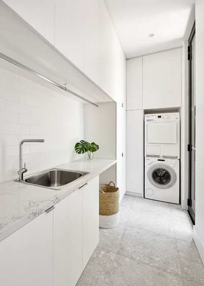 Modern Laundry Room by LSA Architects