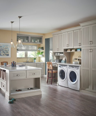 Transitional Laundry Room by Schuler Cabinetry