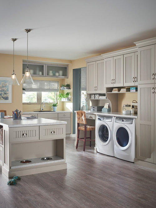 Transitional laundry room design ideas remodels photos - Laundry room wall ideas ...