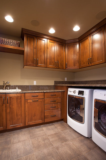 Contemporary Laundry Room by HighCraft Builders