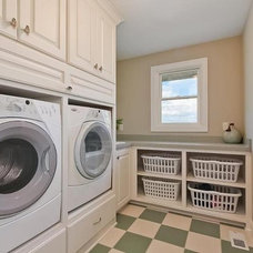 Traditional Laundry Room by Kathie Karsnia Interiors
