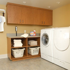 Modern Laundry Room by Karen Ellentuck. ASID