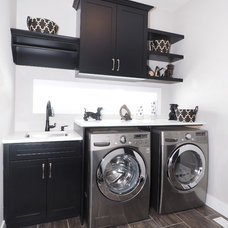 Transitional Laundry Room by Tiffany MacKinnon
