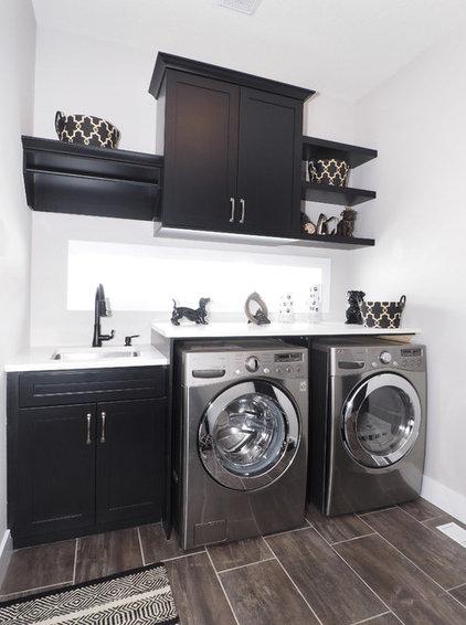 Transitional Laundry Room by Tiffany MacKinnon