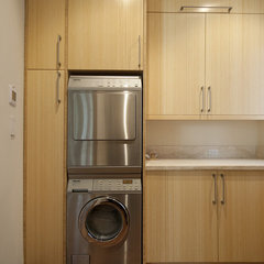 contemporary laundry room by Serrao Cabinets & Design