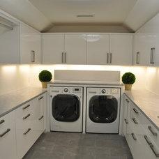 Contemporary Laundry Room by Edwina Drummond Interiors