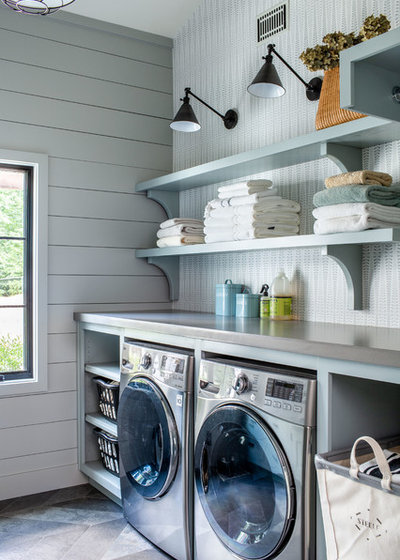 Farmhouse Laundry Room by Alan Clark Architects, LLC