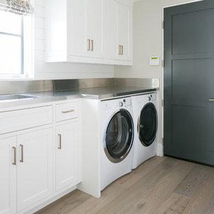 Coastal laundry room photo in Orange County