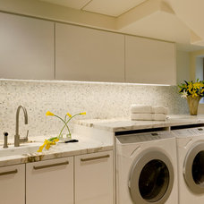 contemporary laundry room by Haefele Design
